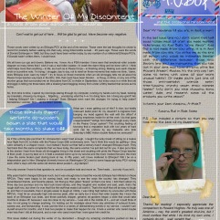 """design, layout, and all text written bywritten by dave newlands (editor) with collaboration by emily lounsbury on PO Box""""."""
